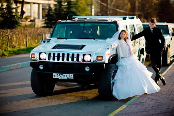 фото свадебный хаммер